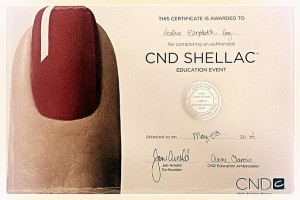 Heather Hoy CND Certified
