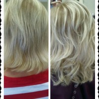 Custom Hair Extensions: Before / After